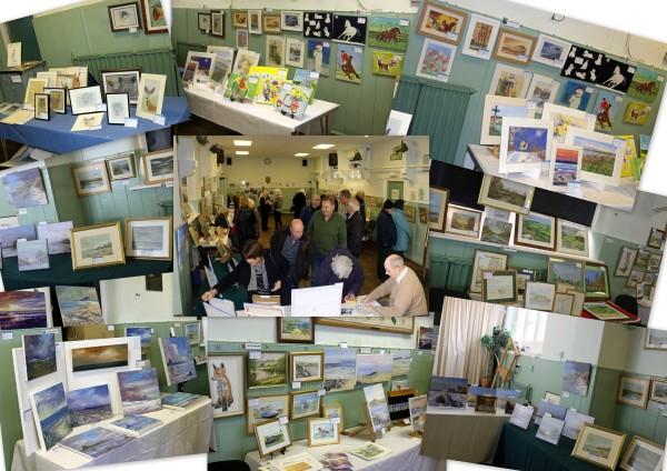 lesbury-art-exhibition-collage